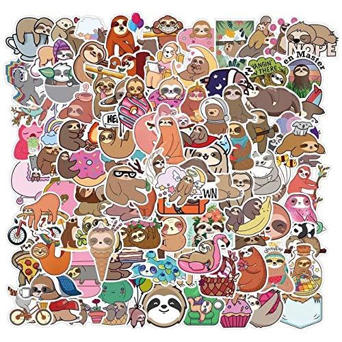 50/100 dibujos animados perezosos, decoración para moto, maleta, portátil, pegatinas impermeables