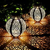 2 Pack Farol Solar Exterior Jardin LED Lámpara Solar Jardín Luz...