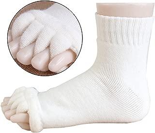 GZQ Sports GYM Five Toe Separator Socks Alignment Pain Health Massage Socks