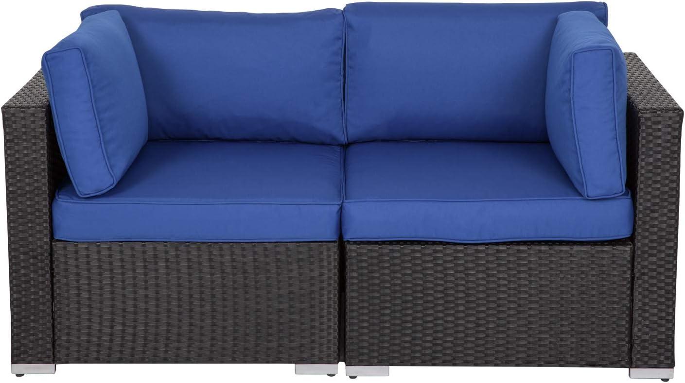Wicker Loveseat 2 Piece Patio Corner Popular brand Furniture Sectional Al Sofa Ranking TOP1