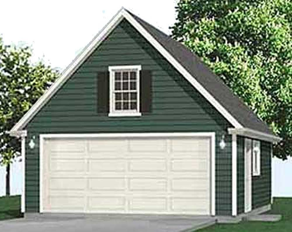 latest Garage Plans : 2 Car Compact Attic Max 54% OFF Plan Roof With Steep