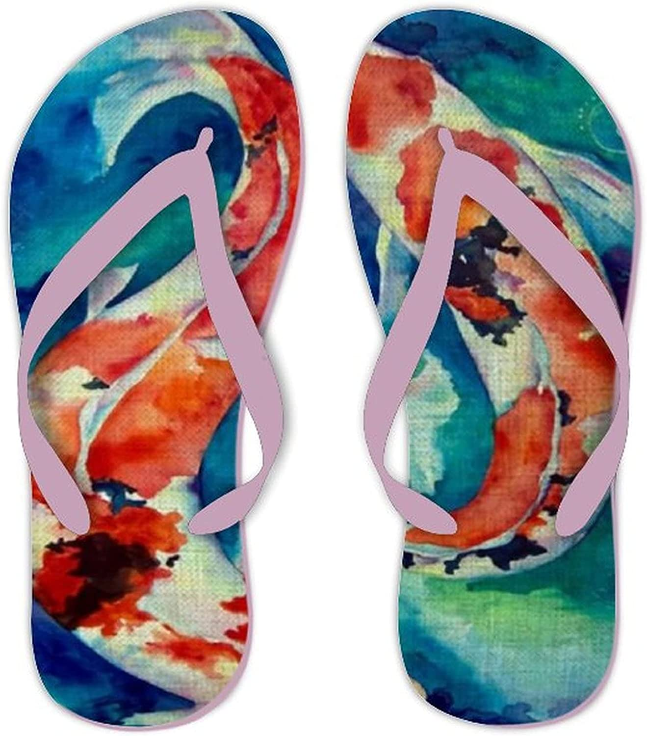 Japanese Koi Fish Popular product Max 44% OFF Comfortable Beach Sandals Strap Thongs Leather