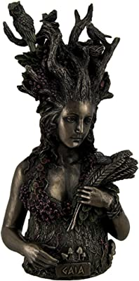 Resin Statues Statue Of Gaia Greek Mother Earth Goddess & Ancestral Mother Of All Life 4.75 X 9.75 X 4.25 Inches Bronze