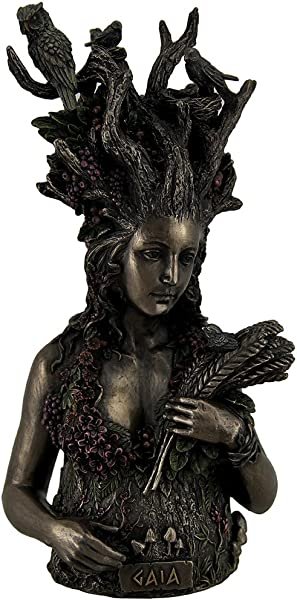 Resin Statues Statue Of Gaia Greek Mother Earth Goddess Ancestral Mother Of All Life 4 75 X 9 75 X 4 25 Inches Bronze