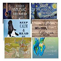 Creanoso Awesome Inspirational Postcards Set (60 Pack) - unique designs with success inspired messages, Great gift for encouraging and inspiring Men Women Teens Boys Girls [並行輸入品]