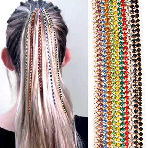 Weiqiao® Pince à Cheveux Longue avec Strass Glands Épingle à Cheveux Décoration Punk Pour Femme Fille Cadeau Fête Couleur Aléatoire 5pcs