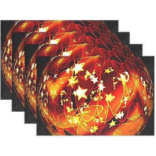 Bola Adorno navideno Adorno navideno 875767 Manteles individuales Juego de 6 para mesa de comedor Durable antideslizante Mesa de cocina Manteles individuales