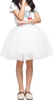 Little Girl Tutu Skirt A Line 7 Layers Tulle Skirt Party Princess Dance Tutus for Girls (3T -10T)