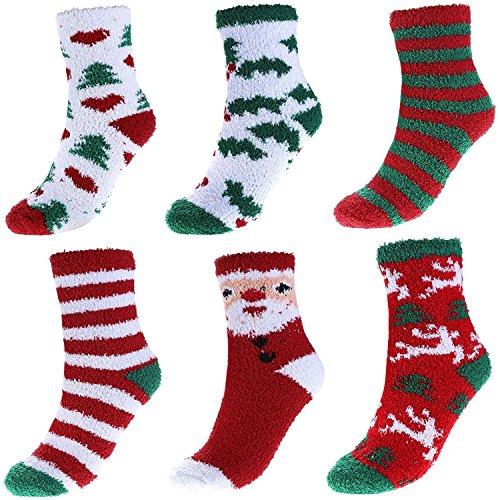 6 pares de calcetines térmicos Navideños