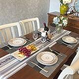 GODTEN Platzdeckchen (8er Set) Platzset Abwischbar – Hitzebeständig und Abgrifffeste Waschbare Tischmatte – Grau Tischset Kunststoff für Küche Speisetisch – 30x45cm (8er, A3) - 2
