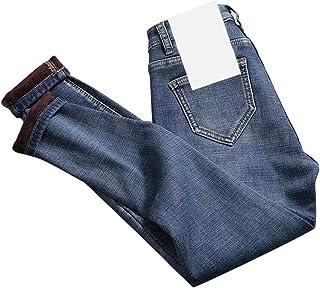 Huaheng Jeans Termici a Vita Alta da Donna Pantaloni in Denim Foderati in Pile Pantaloni Elasticizzati Pantaloni Skinny Nuovo
