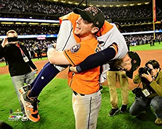 Alex Bregman & Jose Altuve Houston Astros 2017 World Series Game 7 Celebration Photo (Size: 8