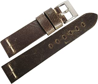 ColaReb 20mm Roma Mud Leather Watch Strap
