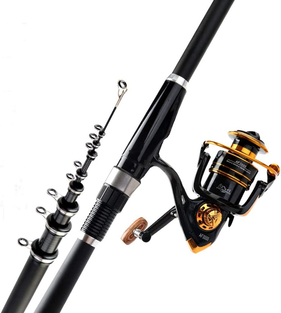 Spasm price Telescopic Fishing Rod Full Kit Daily bargain sale Carbon Fiber
