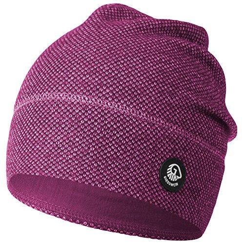 GIESSWEIN Merino Mütze Hohes EIS - Atmungsaktive Strickmütze aus Merinowolle, Merino Wool Beanie, Wintermütze für Damen & Herren, Leichte Jersey-Fütterung