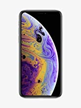 Apple iPhone XS, 64GB, Silver - Fully Unlocked (Renewed)