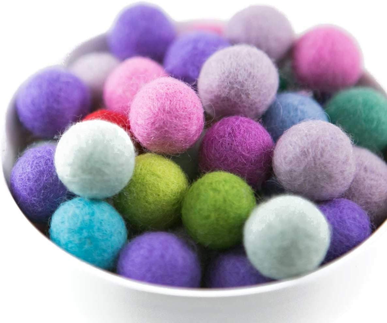 Clip On Earrings Non Pierced Fur Ball Wool Felt Balls Two-tone light brown and dark Green Pom Pom Balls Invisible Clip On Earrings Dangle