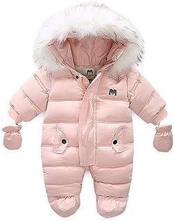 Bestgift zimowy kombinezon dla małych dzieci z kapturem, śpioszki na zewnątrz, płaszcz, unisex