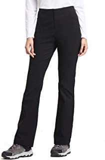 BALEAF Women's Hiking Pants UPF 50+ Stretch Boot Cut Pants Water Resistant