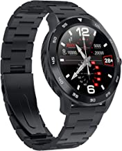 S5 Smart Watch for Mens Sports Smartwatch with Bluetooth Calling Music Control & ECG PPG Heart Rate Blood Pressure Oxygen SpO2 Monitor Fitness Activity Tracking Touch Screen IP68 Waterproof (Black)