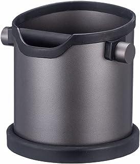 DATUI キャニスター ステンレス鋼のコーヒーの粉箱、コーヒーノックコンテナ、滑り止めベース、カウンタートップコーヒーノックボックス、家、牛乳ティーショップなどに適しています。 DATUI