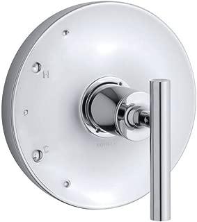 KOHLER K-TS14423-4-CP Purist(R) Rite-Temp(R) valve trim with lever handle, Polished Chrome