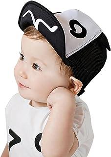 Sombrero de niños, ??Amlaiworld Gorra de beisbol de bebé Niña niño Gorra al aire libre Sombrero de playa Impresión Gorra de sol Verano Sombrero de malla Malla con reborde suave (Negro)