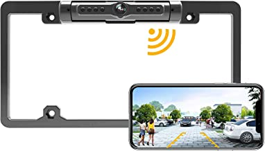 License Plate Wireless Backup Camera, WiFi Rear View Camera, LASTBUS 170° View Angle..