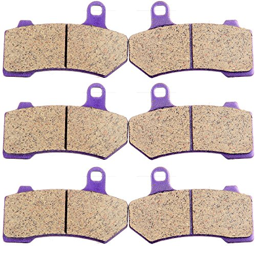 Carbon Fiber Brake Pads ECCPP Motorcycle Replacement Front and Rear Braking Pads Kits Set for 2008-2014 Harley Davidson FLHTCU Ultra Classic Electra Glide