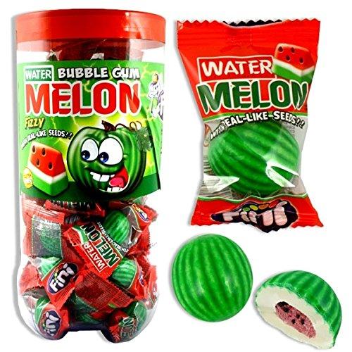 Melonen-Kaugummis XL, 50 Fruchtkaugummis mit Melonengeschmack, 3 cm Bubble Gum