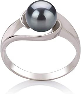 Clare Black 6-7mm AAA Quality Freshwater 925 Sterling Silver Cultured Pearl Ring For Women