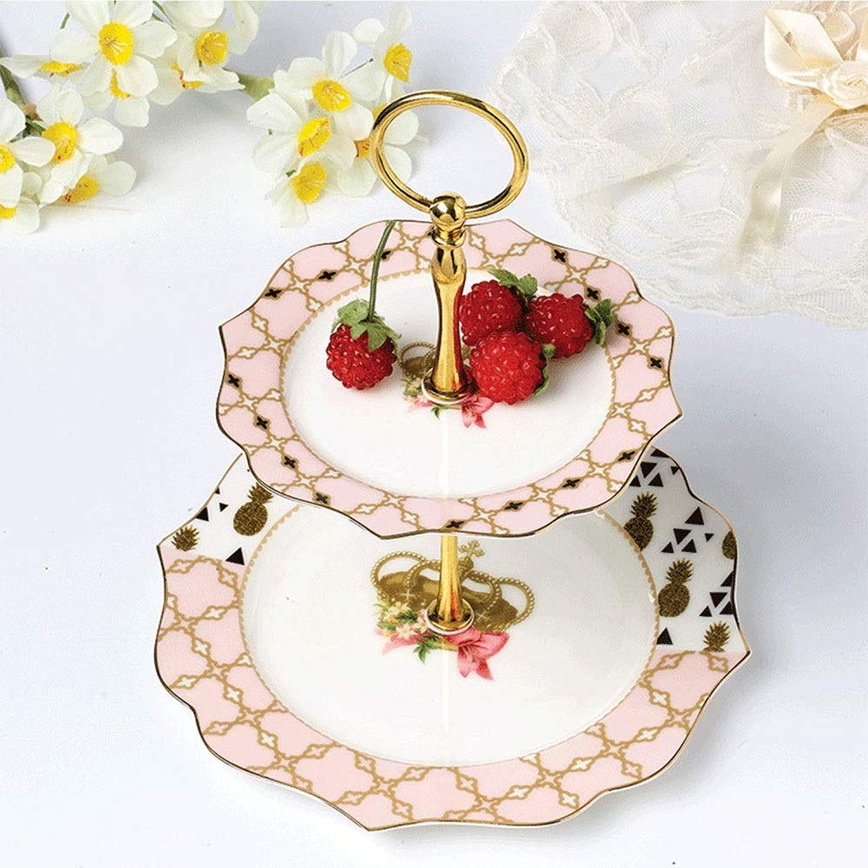 Corbeille à fruits en dentelle européenne créative avec porcelaine tendre de haute qualité remplie de gateau aux noix et aux fruits rohommetique profiter de l'heure du thé belle