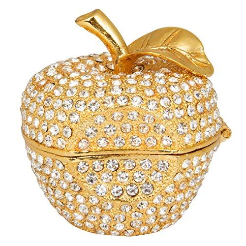 QIFU-Hand Painted Enameled Gold Apple Diamond Decorative...