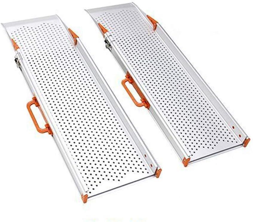 HSRG Rampa telescópica portátil para Silla de Ruedas, rampa de umbral Ajustable para escalones de Inicio Escaleras Puertas Scooter con Bolsa de Transporte, 1 par