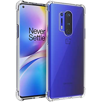Osophter for Oneplus 8 Pro Case Clear Transparent Reinforced Corners TPU Shock-Absorption Flexible Cell Phone Cover for One Plus 8 Pro/Oneplus8 Pro(Clear)
