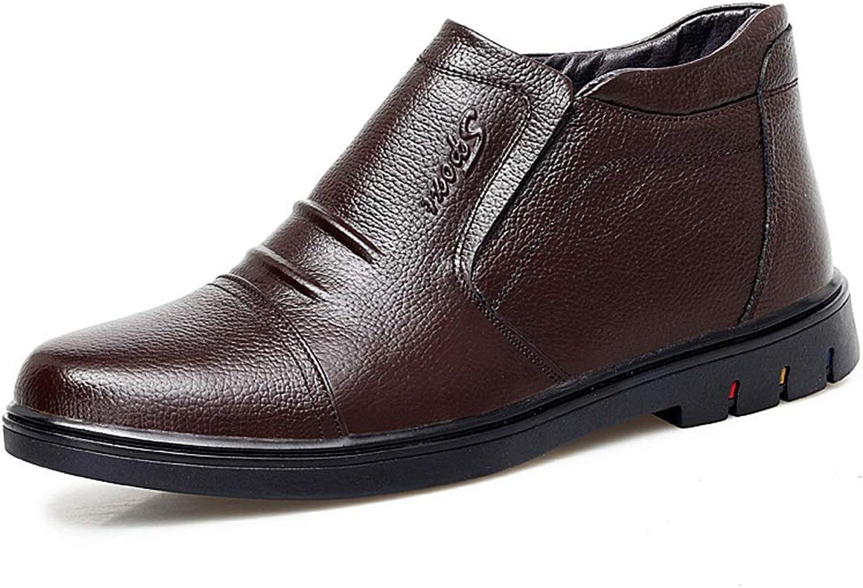 YAJIE-Stiefel, Herren Stiefeletten, Stiefeletten, Stiefeletten, Lässige Klassische Bequeme Bequeme High Top Fleece gefütterte Stiefel (Farbe   Braun, Größe   40 EU)  e6e8bd