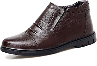 Sygjal Men's Fashion Ankle Boots Casual Classic Comfortable Convenient High Top Fleece Lined Boots Black (Color : Black, Size : 38 EU)
