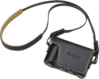 CASIO デジタルカメラ EXILIM用純正ケース EJC-700BK ブラック ZR800対応 本革ジャケットケース ネックストラップ