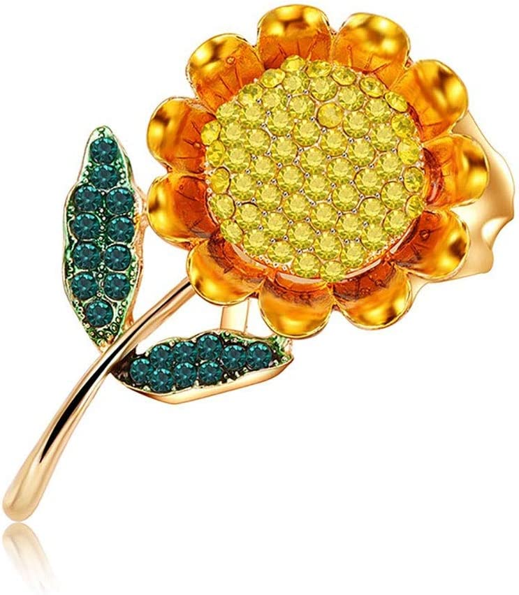 CDQYA Sunflower Brooch - Female Superior Pin Sweater High-end Time sale Acce