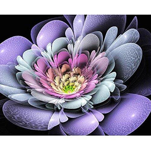 catmoew 5D Diamantmalerei Diamant Malerei Blumenmuster Paste Kreuzstickerei Quadrat Bohrer 25 * 25cm