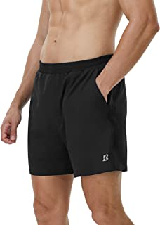 Roadbox Men's 5 Inch Running Athletic Quick Dry Shorts with Pockets for Workout Gym Exercise