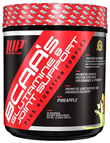 1Up Nutrition His BCAA's Glutamine & Joint Support Plus Hydration Complex, Pineapple, 470 g