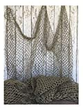Used Fishing Net 5'x10' ~ Commercial Fish Netting ~ Old Vintage Decor