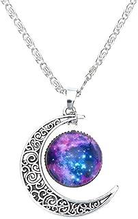 comprar comparacion Collar Cadena Ajustable Colgante Luna Creciente Joyería Regalo para Mujer Moda Color Plata # 10