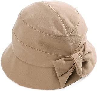 Womens Winter Bucket Derby Gatsby Vintage 1920s Round Bowler Church Hat Fall 55-59cm