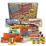 Gran Cesta Chocolate Americano | Surtido de 23 artículos incluido Hersheys Reeses Baby Ruth Butterfinger | Golosinas para Navidad Reyes o para regalo | Caja de American Candy