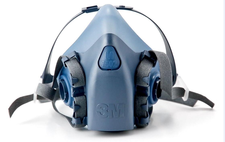 ジョセフバンクスドリンククロール3M ミディアムハーフフェイスピース 再利用可能なレスピレーター 7502/37082(AAD) 呼吸器保護 2セット(Mサイズ)
