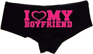 I Love My Boyfriend Booty Shorts Boyshort Cotton Bikini Bottom Sexy Panties