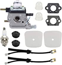Wellsking C1U-K54A Carburetor for Echo 2 Cycle Mantis 7222 7222E 7222M 7225 Tillers TC-210 TC-210i TC-2100 SV-6 SV-5H SV-5C SV-5Ci SV-4B LHD-1700 HC-1500 Cultivator 12520013122 with Repower Kit
