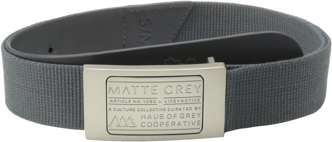 Industry Classic No. 1 Matte Grey Men's Badge Belt